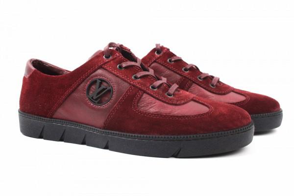 Туфли комфорт Louis Vuitton комбинированные, цвет бордо