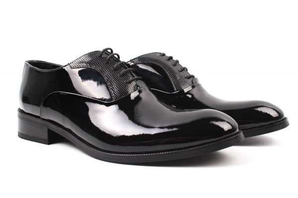 Туфли Ridge лаковая натуральная кожа, цвет черный