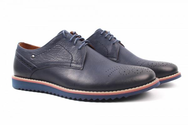 Туфли Tonkelli натуральная кожа, цвет синий