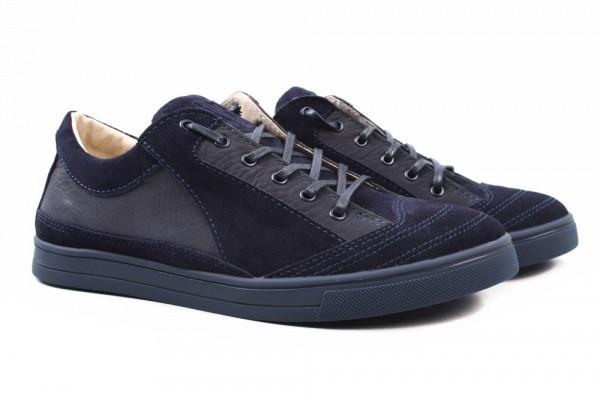Туфли спорт Visazh комбинированные, цвет синий