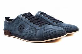 Туфли мужские комфорт Cosottinni натуральный нубук, цвет синий