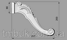 Гнутая ножка для круглого стола. Деревянная резная центральная ножка. 200 мм., фото 3