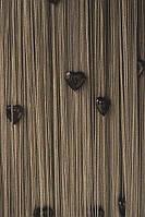 Шторы нити Сердечки № 202 Серый