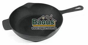 Сковорода чавунна 260х65 мм з чавунної литої ручкою LAHN (Україна) С2601