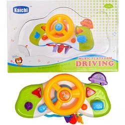 Дитячий музичний кермо - Крихітка кермо, Розвиваюча іграшка Автотренажер для малюків, K999-85B