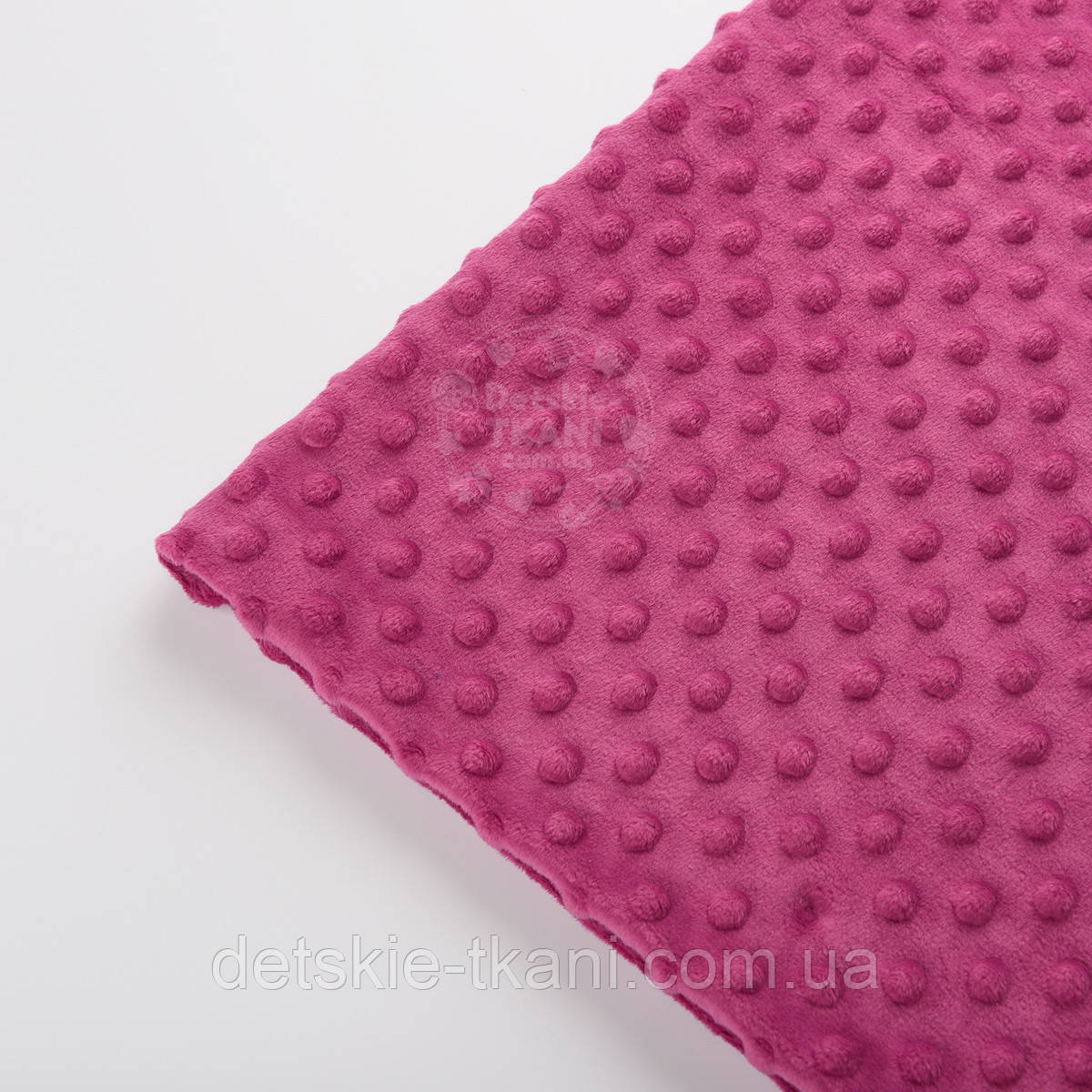 Отрез плюш minky М-18 размером 40*40 см розово-сиреневого цвета