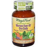 Витамины для женщин, Mega Food, 40+, 30 таблеток
