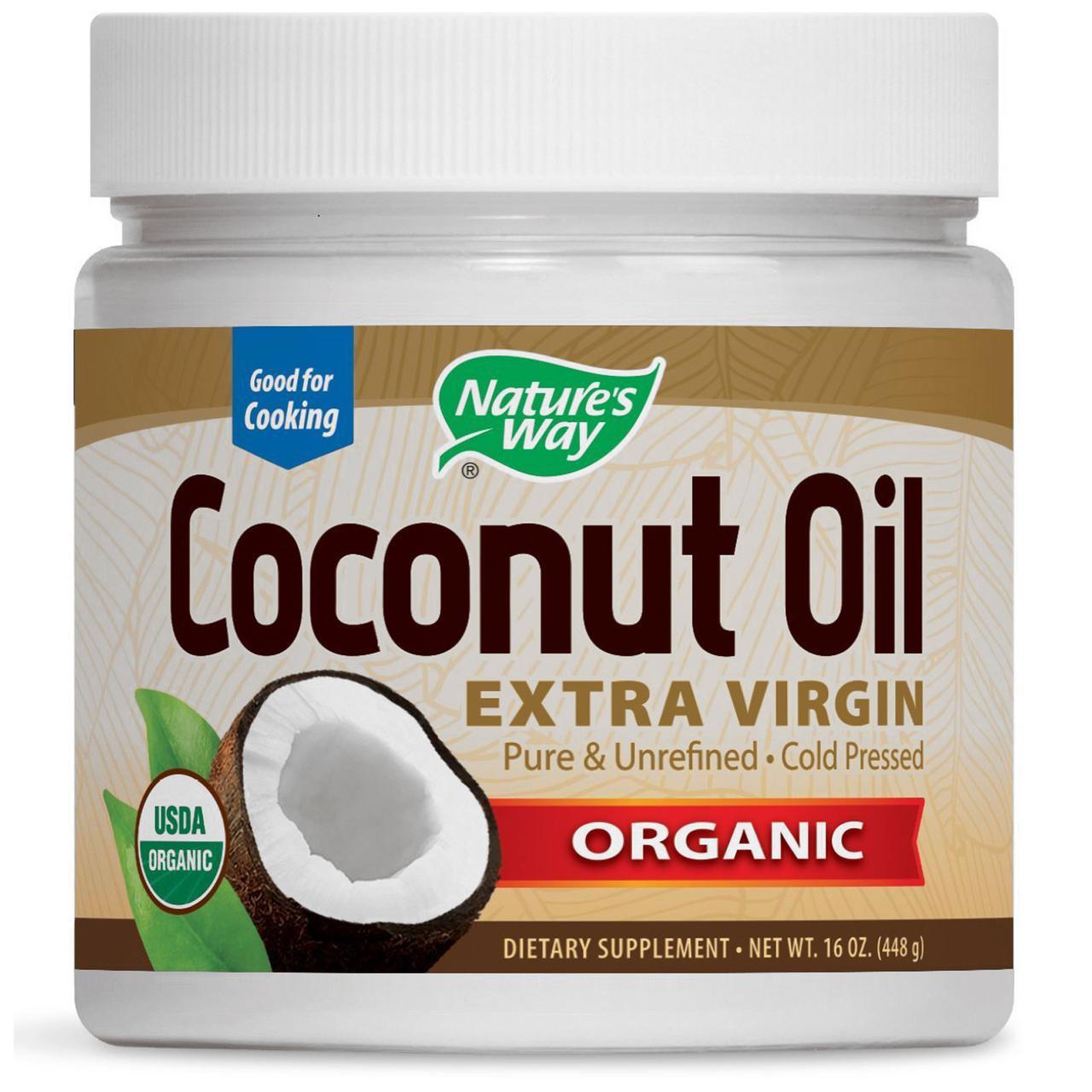 Кокосовое масло, Nature's Way, органическое, 454 г
