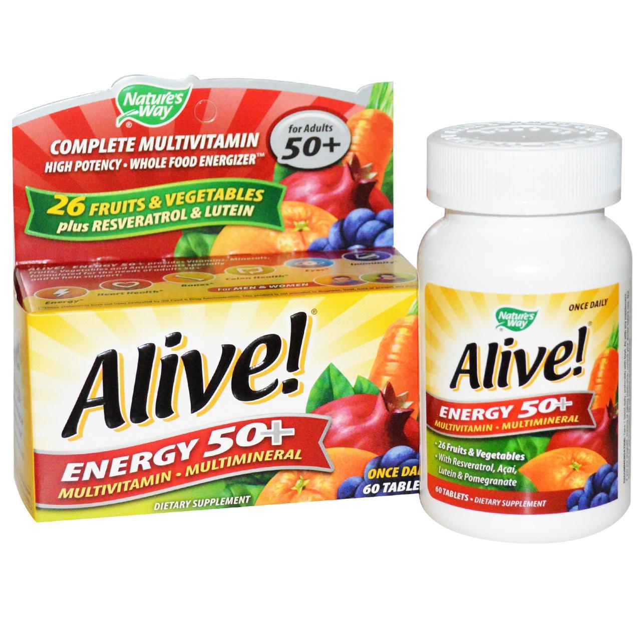 Мультивитамины (Multivitamin-Multimineral), Nature's Way, 50+, 60 таблеток