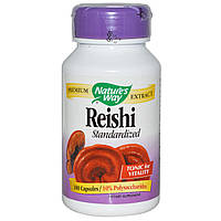 Лечебные грибы рейши (Reishi), Nature's Way, 100 капсул