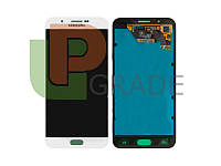 Дисплей для Samsung A800F Dual Sim Galaxy A8 (2015) + тачскрин, белый, Pearl White, OLED, копия хорошего качества
