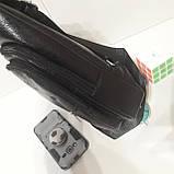 Рюкзак сумка на одно плечо городской искусственная кожа черный, фото 8