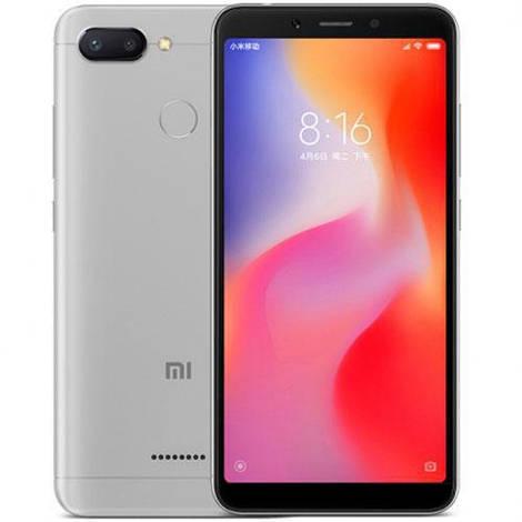 Смартфон ORIGINAL Xiaomi Redmi 6 Silver (8Х2.0Ghz; 3Gb/32Gb; 12+5МР/5МР; 3000 mAh)