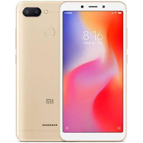 Смартфон ORIGINAL Xiaomi Redmi 6 Gold (8Х2.0Ghz; 3Gb/32Gb; 12+5МР/5МР; 3000 mAh)