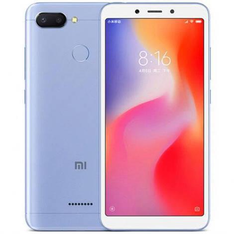 Смартфон ORIGINAL Xiaomi Redmi 6 Blue (8Х2.0Ghz; 3Gb/32Gb; 12+5МР/5МР; 3000 mAh)