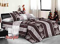 """Красивый двухспальный евро комплект постельного белья """"Тамерлан 2""""."""