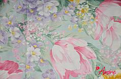 Ткань для постельного белья Тик 120 002blue (60м)