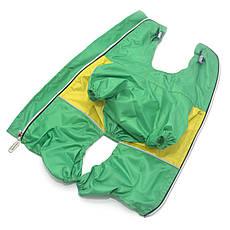 Дождевик для собак c капюшоном зеленый, фото 2