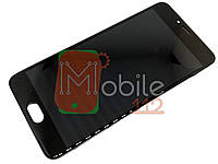 Модуль для Meizu M5 (M611)/M5 mini Дисплей + тачскрин, черный, с передней панелью оригинал PRC