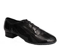 Мужская обувь для спортивно бальных танцев, стандарт МС-1 (лак)