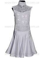 """Платье-бейсик для спортивно - бальных танцев """" 02 Белый"""""""