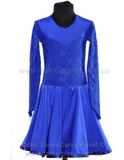 """Сукня-бейсік для спортивно - бальних танців """"04Электрик"""""""