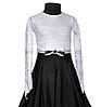 """Платье-бейсик для спортивно - бальных танцев """"01 Черный + 02 Белый"""""""