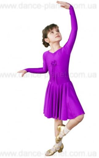 """Платье-бейсик для спортивно - бальных танцев """" 12 Фиолетовый"""""""