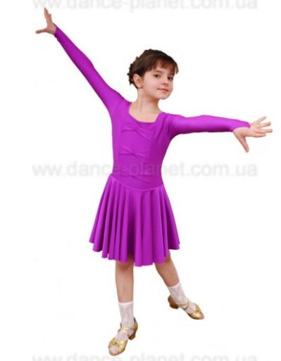 """Платье-бейсик для спортивно - бальных танцев """" 10 Сирень"""""""