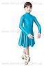 """Платье-бейсик для спортивно - бальных танцев """"05 Бирюза зеленая"""""""