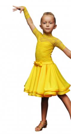 Платье-бейсик для спортивно - бальных танцев
