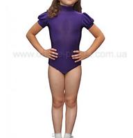 """Боди с коротким рукавом для спортивно - бальных танцев  """"12 Фиолетовый"""""""
