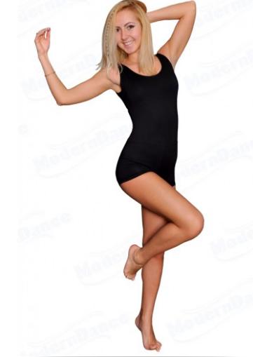 """Купальник гимнастический для спортивно - бальных танцев  """" 01 Черный"""""""
