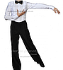 Рубашка мужская на замке 'Ювенал' для спортивно - бальных танцев