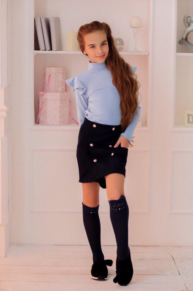 Юбка LiLove 420-1 140 темно-синий