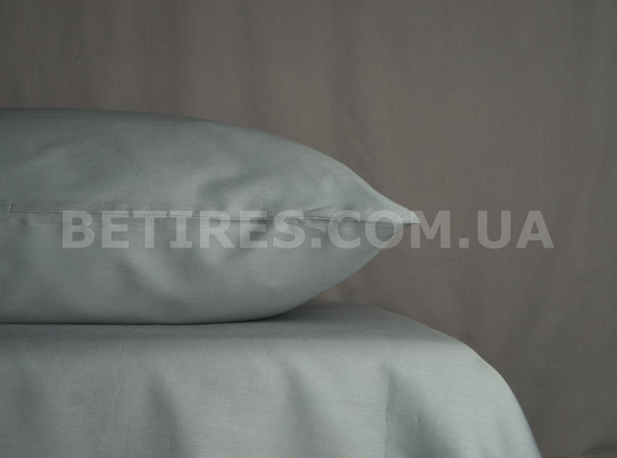 Наволочка сатиновая 50x70(2 шт.) PAVIA SATEN YESIL(PETROL MAVIS) серая