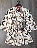 Молодежный тонкий халатик под пояс, женская домашняя одежда ТМ Exclusive, фото 2