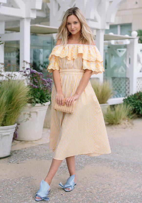 платье с пышной юбкой 2018