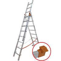Budfix 3x7. Универсальная раскладная лестница из трёх секций. 4,10 метра, фото 1