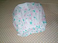 Простирадло на гумці, Польська бязь 120х60 см (рожеві-зелені зірки)