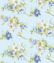 Ткань для постельного белья Тик 120 005blue (60м)