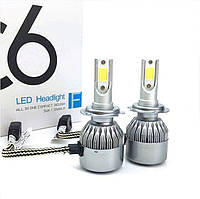 Светодиодные лампы C6 LED Headlight 36W/3800LM с цоколями H3, H7, H11