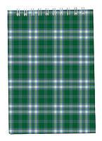 Записная книга блокнот Buromax А6,48 л. клетка карт. обл. спираль зеленый BM.2480-04