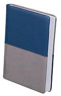 Ежедневник недатированный А5 Buromax 288 стр. синий с серым QUATTRO BM.2024-95