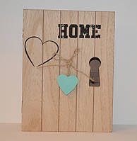 "Ключниця дерев'яна ""Heart"""