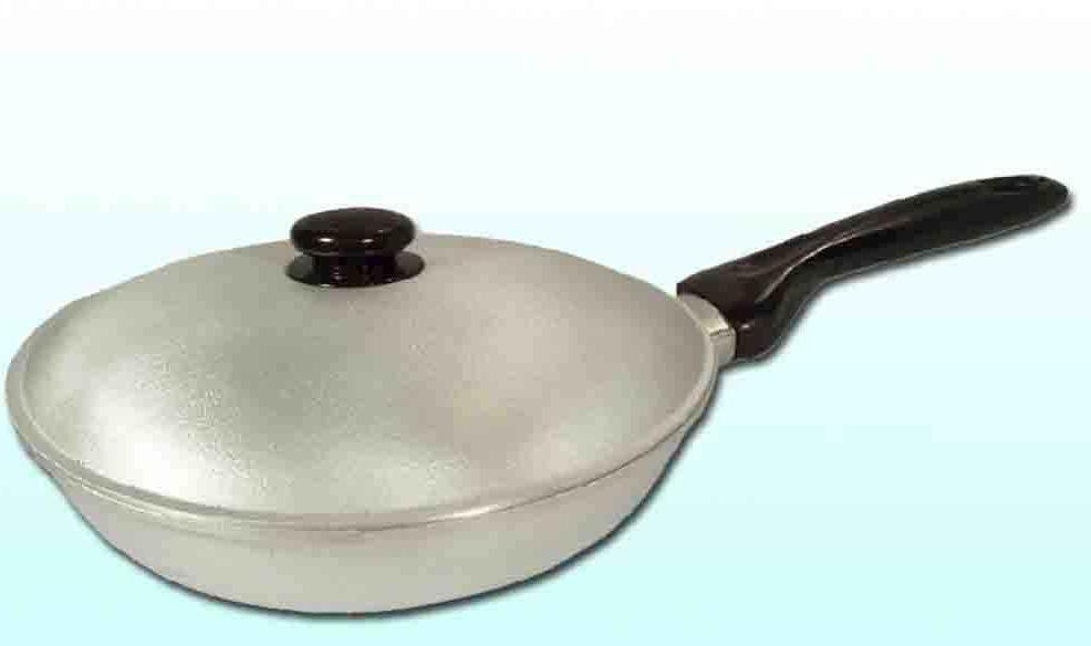 """Сковорода алюминиевая рифленая d=240 мм с крышкой """"Дако"""""""
