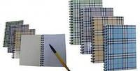 Записная книга А6 Buromax на пружине сбоку 48л. клетка картонная обложка синий BM.2580-02
