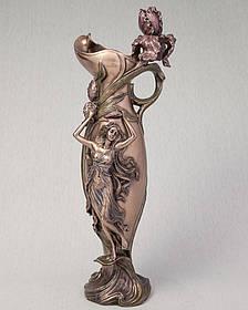 Ваза Veronese Девушка в орхидеях 39 см (10337 V4)