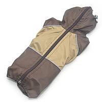 Дождевик для собак c капюшоном коричневый