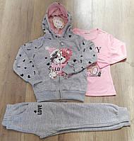 Трикотажный костюм 3 в 1 для девочек, S&D, 98-128 см,  № CH-5296, фото 1